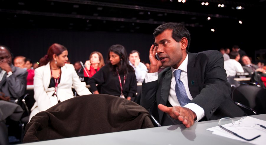 President Nasheed at Copenhagen Climate Summit 2009